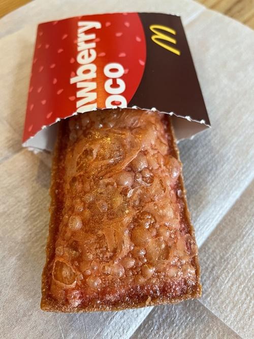 マクドナルドのチョコいちごパイ