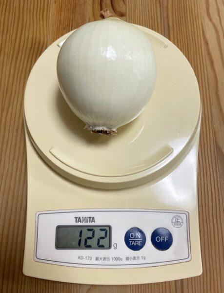 皮なし122gのSサイズ玉ねぎ