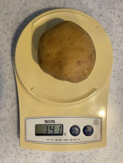 Mサイズのジャガイモ1個の重さ
