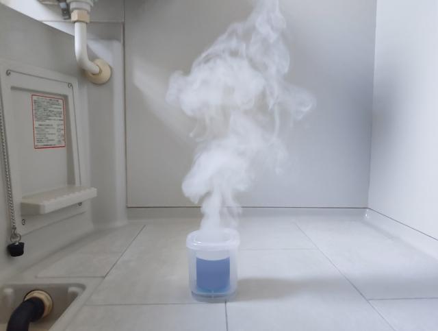 お風呂にくん煙剤
