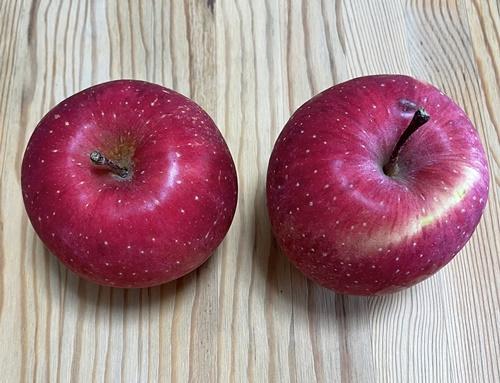 2個のリンゴ