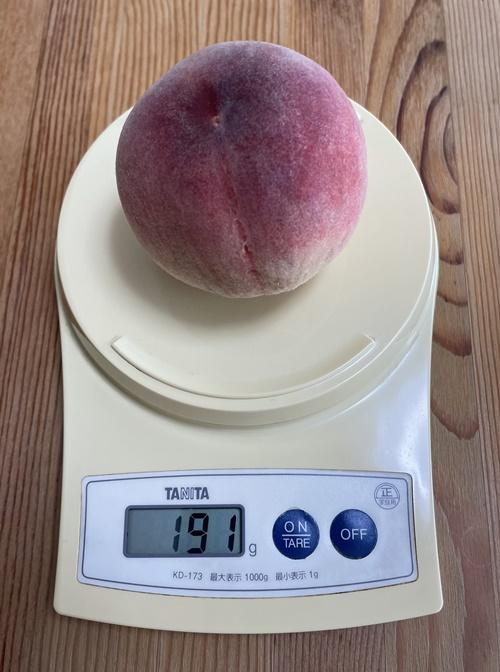 1個191gの桃