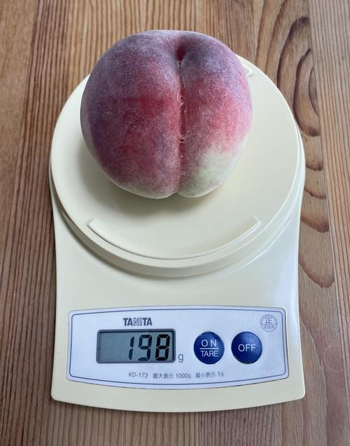1個198gの桃