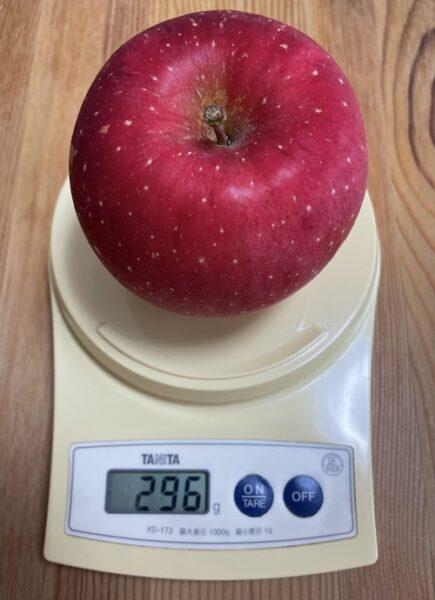 1個296グラムのりんご