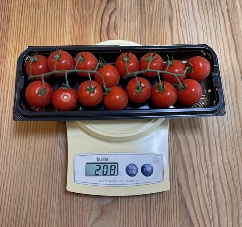 ミニトマトを量る