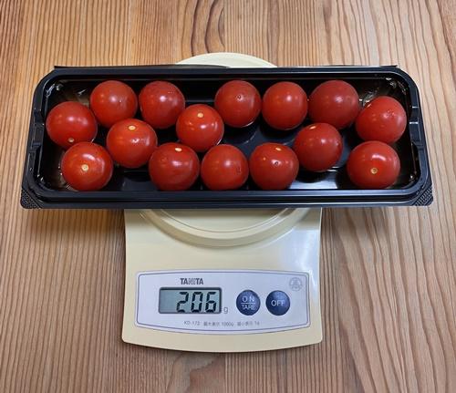 ミニトマトの重さ