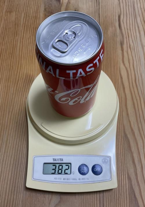400グラムの目安の缶コーラ