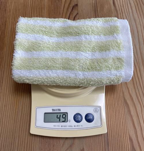 ハンドタオルの重さ