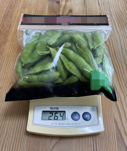 1パック264gの枝豆