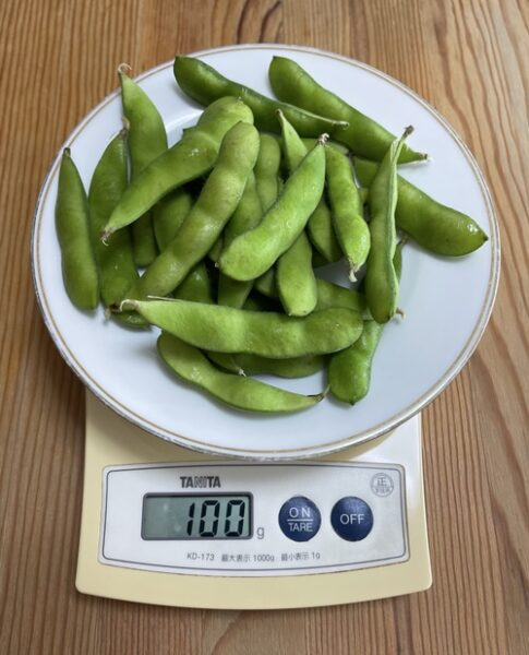 100g分の枝豆
