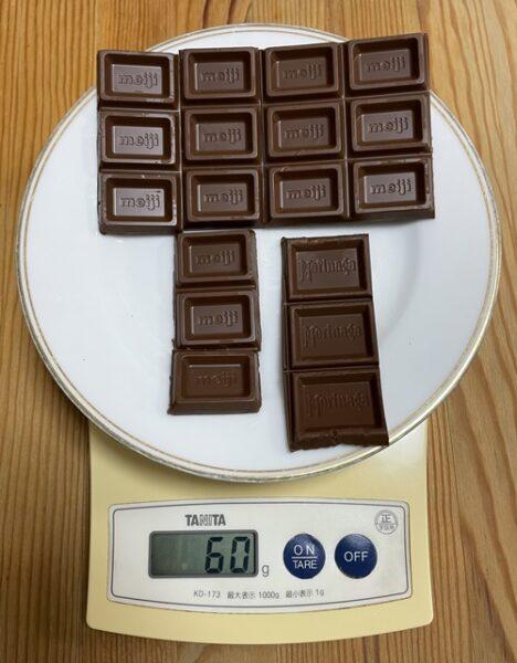 板チョコ60g分