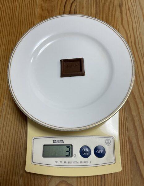 森永のミルクチョコレート1かけらの重さ